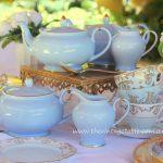 Vintage Style Blue & Gold Teapots