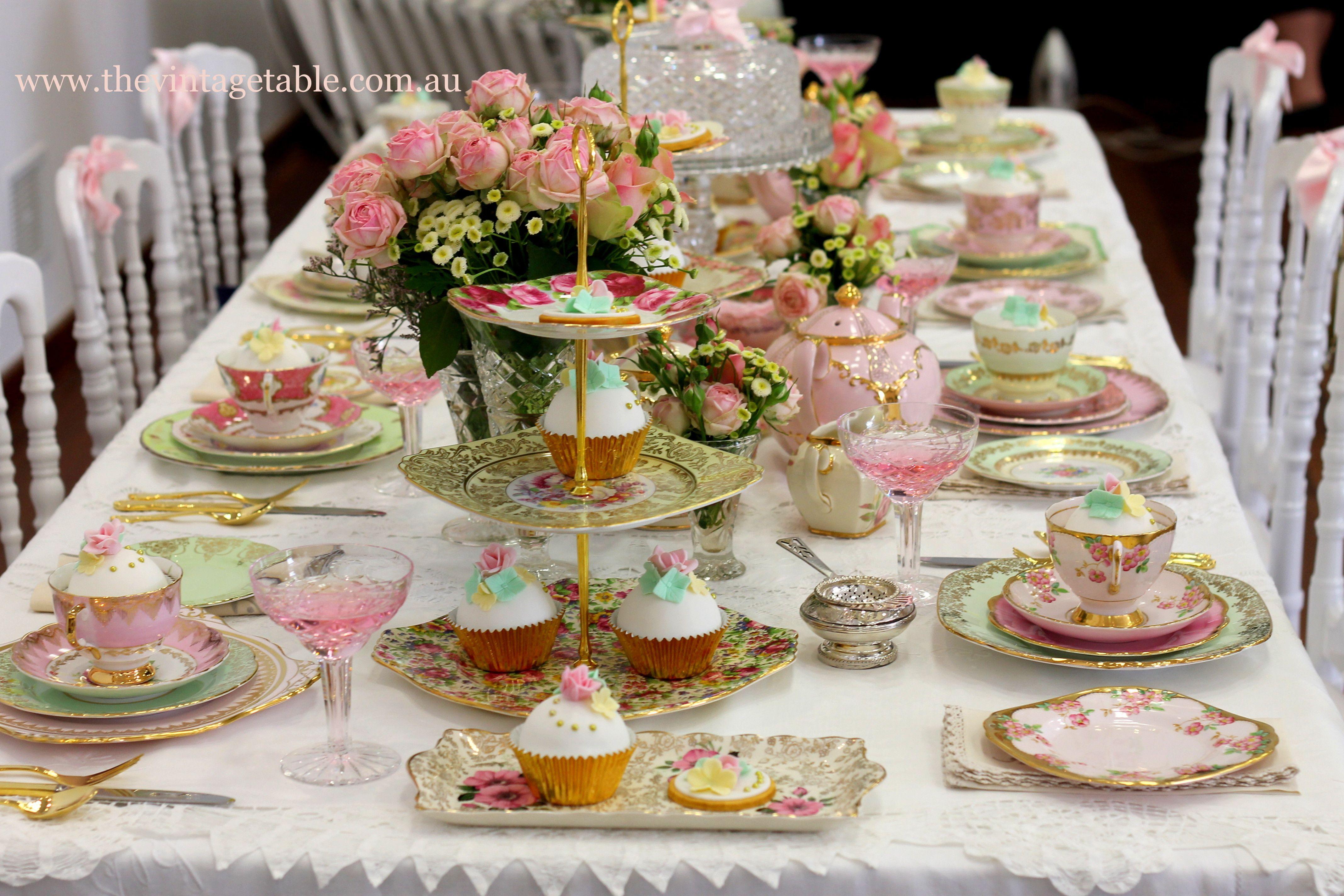 Vintage High Tea Bridal Shower Party