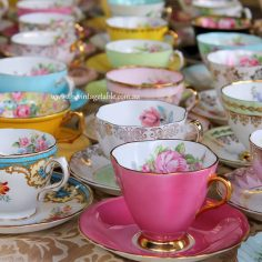 Premium vintage fine bone china tea sets