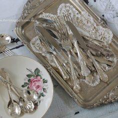 Vintage Silver Cutlery & Trays