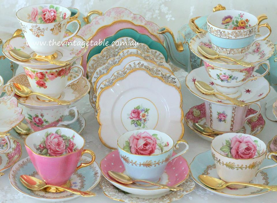 Vintage High Tea China | Crockery Hire |The Vintage Table