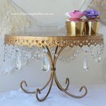 Large Gold Chandelier Pedestal 33cms - $25 - Qty: 1