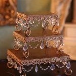 Set of 3 Gold & Crystal Cake Stands | 19, 23 & 28cms | $45 Set