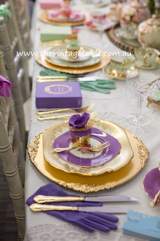 Vintage China & Gold Charger Plates