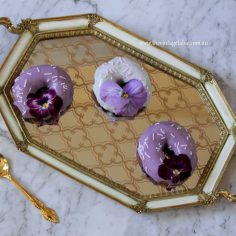 Petite Gold & Ivory Mirrored Tray - 40cm wide | $14 | Qty: 4