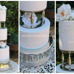 Pair Antique Edwardian Silver Wedding Cake Columns|Pillars & Silver Plateau | Cakes from The Garnished Co *See notes below