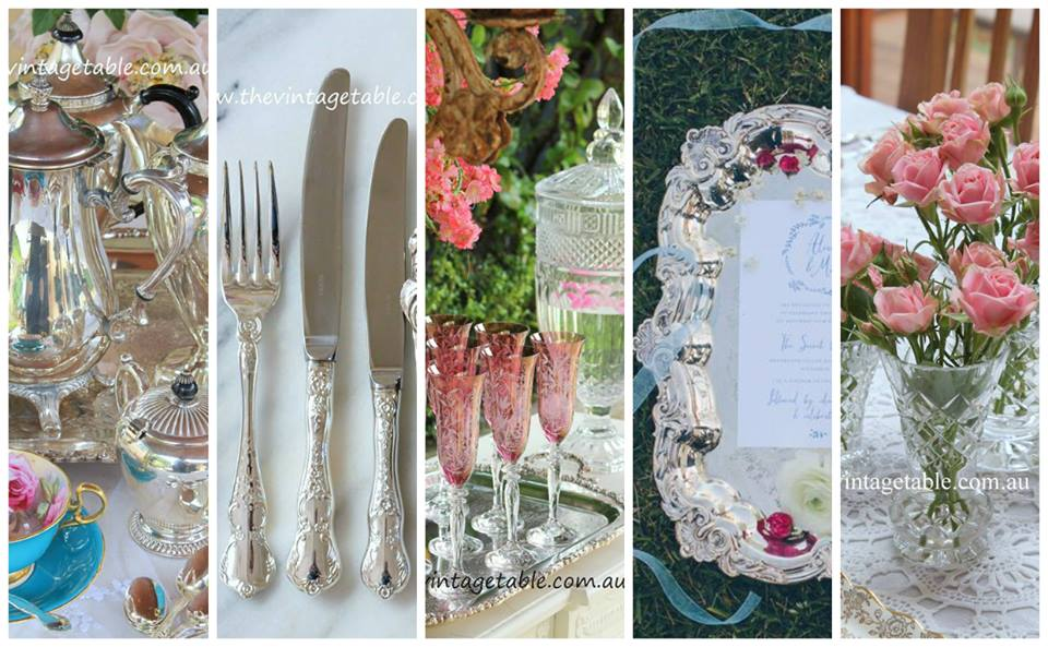 Silver & Crystal Hire | The Vintage Table Perth
