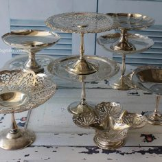 Assorted Vintage Silver Pedestals & Compotes - $12 each | 12 Available