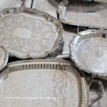 Vintage Silver Trays - Platters - Drinks, Dessert & Grazing Tables | 35 Available
