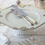Large Silver & White Baroque Pedestal ~ 37cms ~ $30