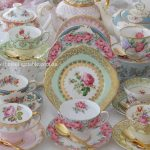 Traditional Collection of fine bone vintage English china tea sets.