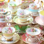 Mixed Pastel & Florals Vintage Bone China Cup & Saucer Sets