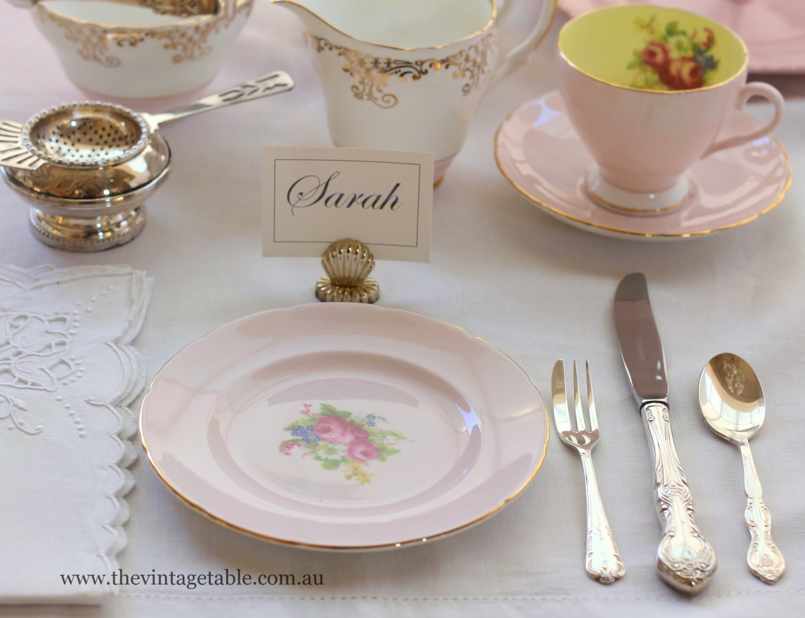 Traditional High Tea Place Setting & Setting The Table | Place Settings - The Vintage Table