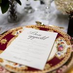 Vintage Heirloom Collection Dinnerware & Gold Cutlery | Image Ryan Tran