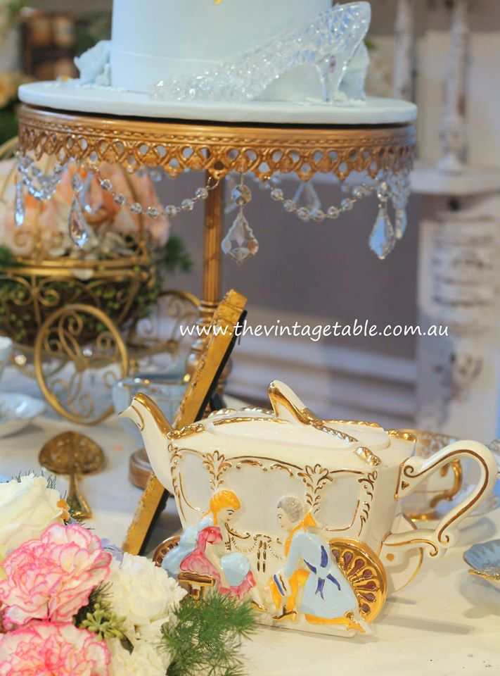 Our Cinderella Tea Party Display at Vintage Bride Fair, Perth Town Hall.