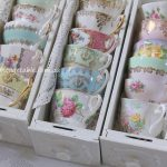 Vintage Bone China Teacups in Vintage Drawers