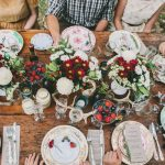 Long Table Wedding with Mismatched China & Silver Cutlery
