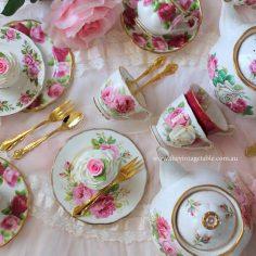 Vintage Roses & Gold Tea Cutlery