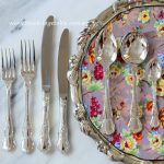 Vintage Silver Plated Cutlery & Tray