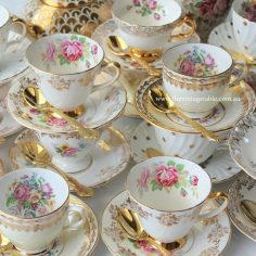 Vintage White & Gold Tea Set Trios
