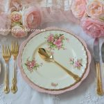 Botanical Collection Dinner & Entree with Vintage 24ct Gold Plated Cutlery