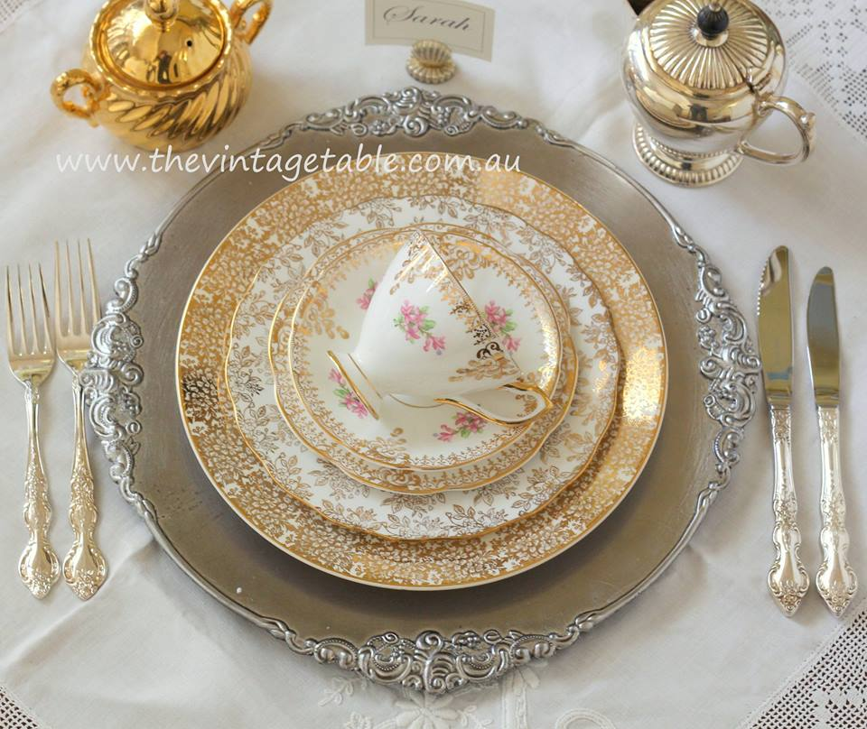Vintage Dinner Plate Hire The Vintage Table Perth