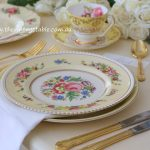 Botanical Collection with Gold Cutlery