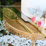 Gold Plated Cake Knife & Server Set