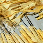Vintage 24ct Gold Plated Cutlery | Qty: 110 Place Settings