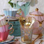 Luxury vintage 24ct gold plated cake forks & teaspoons ~ 140 sets