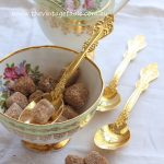 Vintage Gold Plated Serving Spoons for Sugar, Jam & Cream