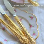Vintage 24ct Gold Plated Tea Knives | Qty: 140