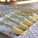 Gold Pastry or Cake Tongs