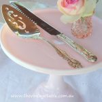 Vintage Silver Cake Knife & Server Set