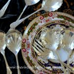 Large Vintage Silver Servers , Spoons & Ladles