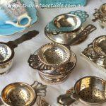 Vintage Silver Tea Strainers
