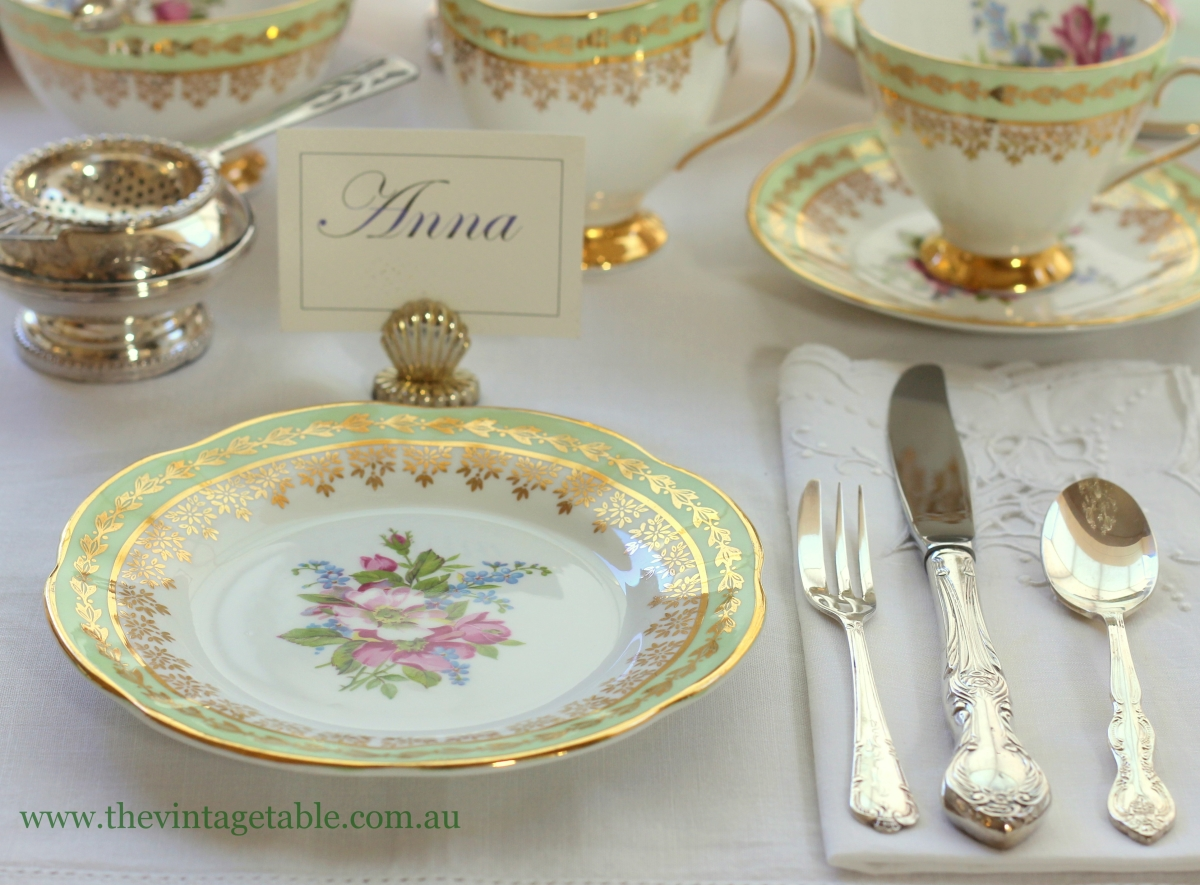 For a more modern or eclectic afternoon tea well anything goes really and if space is really tight but you want your guests to be seated at the table ... & Setting The Table | Place Settings - The Vintage Table