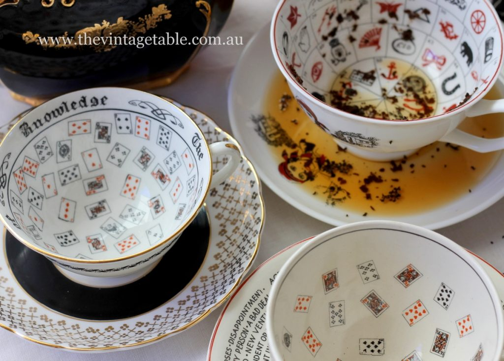 Vintage fortune telling tea cups