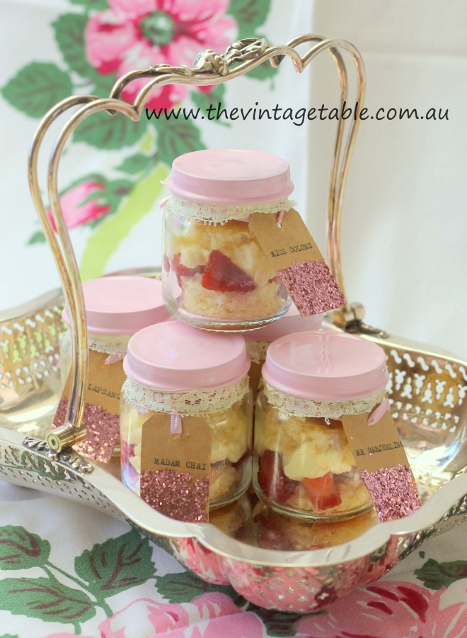 Strawberry Shortcakes in Jars