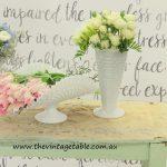Large Milk Glass Vases ~ Florals from Botanica Natualis