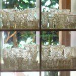 Vintage cut crystal & glass vases