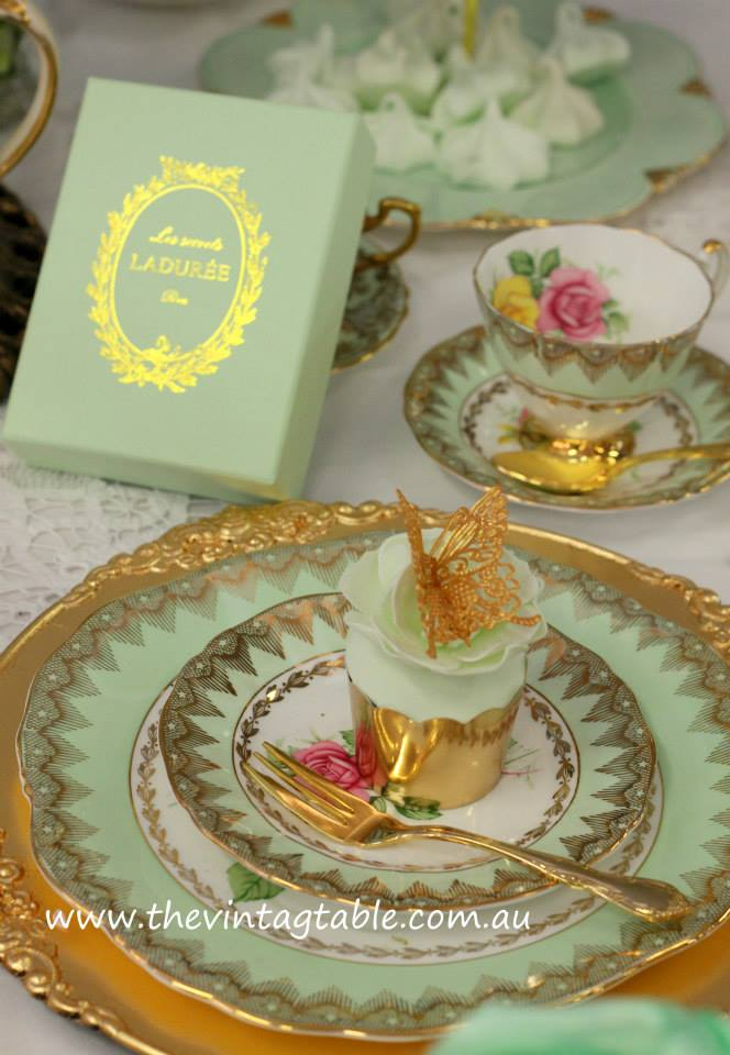 Marie Antoinette High Tea Party | Laduree Favors | The Vintage Table Perth