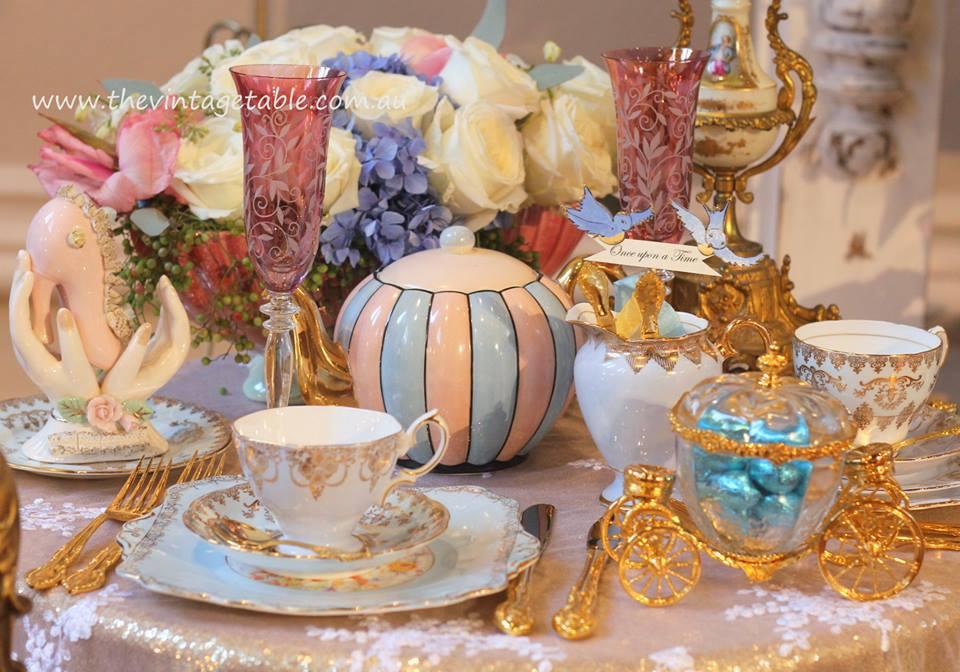 Cinderella high tea party the vintage table Cinderella afternoon tea