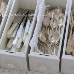 Vintage Silver Cutlery in Vintage Drawers