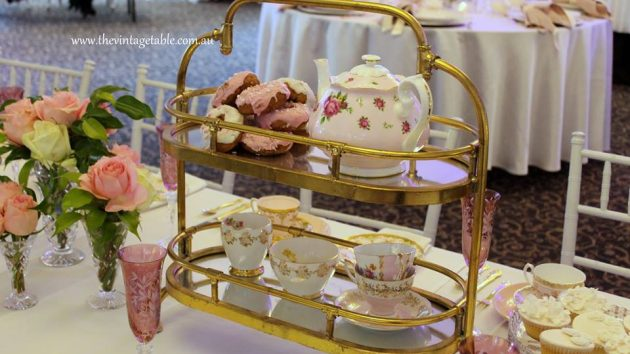 cake stand high tea hire - the vintage table perth