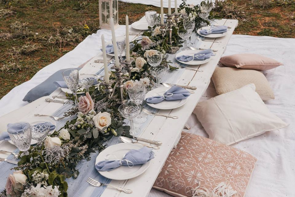 Picnic High Tea Styled by Lace Petals & Hearts | Tableware from The Vintage Table