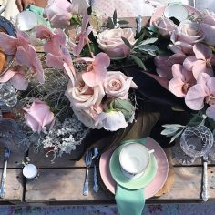 Pink & Mint Picnic Styled by Juban Grazing | Tableware from The Vintage Table