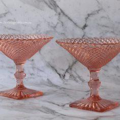 Pink Compote Pair $10